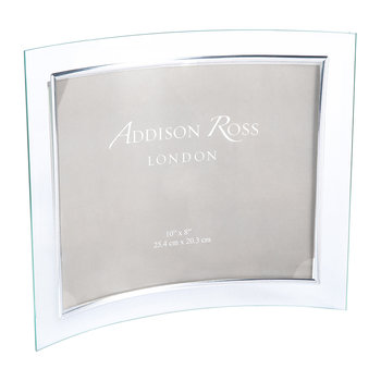 "Curved Glass Photo Frame - 8x10"" - Landscape"