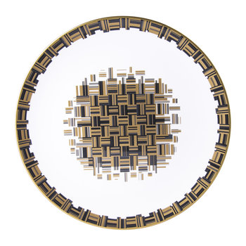 Broadway Charger Plate - Black/Gold/White