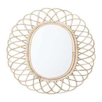 Oval Cane Mirror