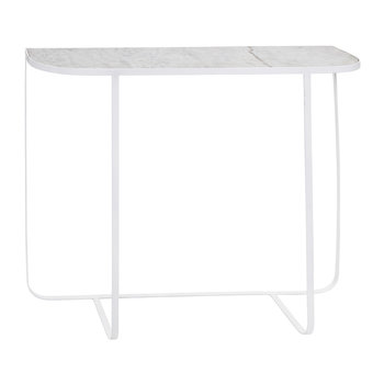 Harper Console Table - White Marble