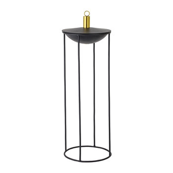 Round Metal Oil Lamp - Black