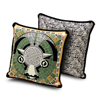 Oroscopo Reversible Cushion - 40x40cm - Goat