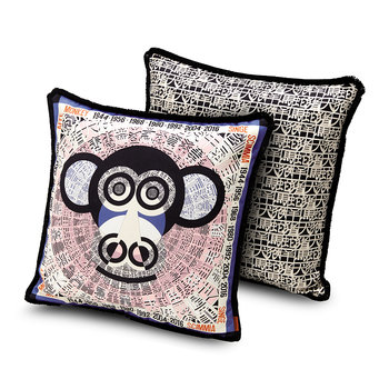 Oroscopo Reversible Cushion - 40x40cm - Monkey