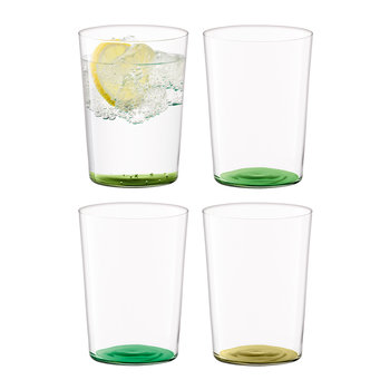 Coro Assorted Tumblers - Set of 4 - Leaf