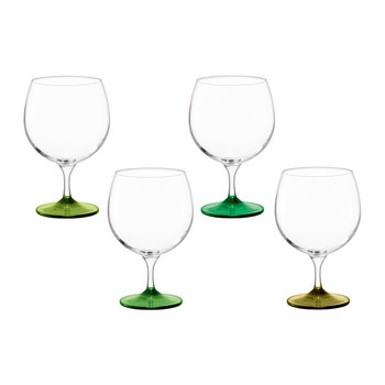 Coro Assorted Balloon Glass - Set of 4 - Leaf