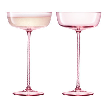 Champagne Theatre Saucer - Set of 2 - Dawn Pink