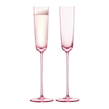 Champagne Theatre Flute - Set of 2 - Dawn Pink