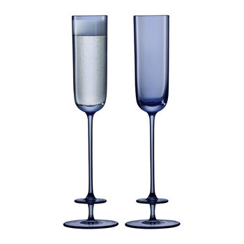Champagne Theatre Flute - Set of 2 - Midnight Blue