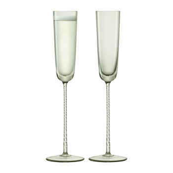 Champagne Theatre Flute - Set of 2 - Smoke Grey