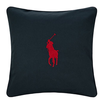 Pony Pillow Cover - 50x50cm - Navy/Red