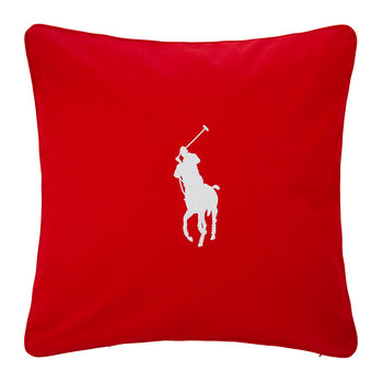 Pony Cushion Cover - 50x50cm - Red/White