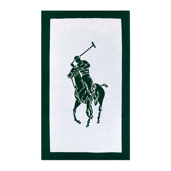 Polo Jacquard Beach Towel - White/Green
