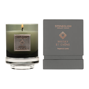 Métallique Collection Tumbler Candle - Whiskey Et Chêne