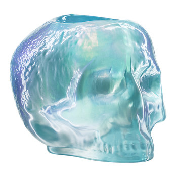 Still Life Skull Votive - Light Blue