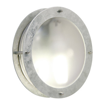 Galvanized Steel Malte Outdoor Wall Light
