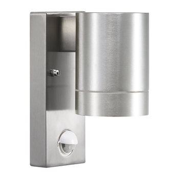Tin Maxi Sensor Outdoor Wall Light - Aluminium