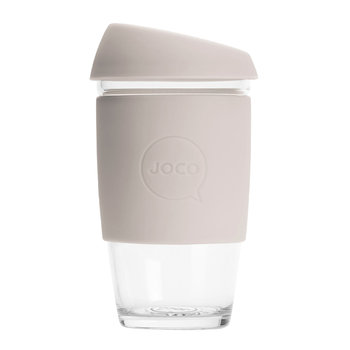 Reusable Glass Travel Cup - 455ml - Sandstone