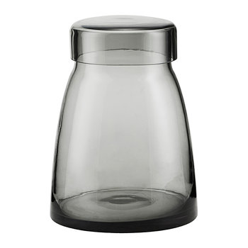 Mazzo Storage Jar with Lid - Grey