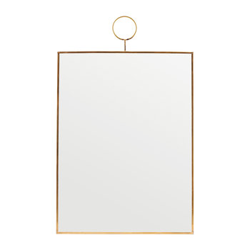 Miroir Boucle Rectangle - Laiton