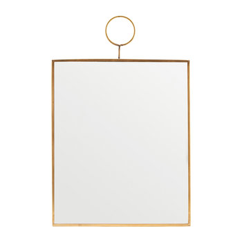 Rectangle Loop Mirror - Brass