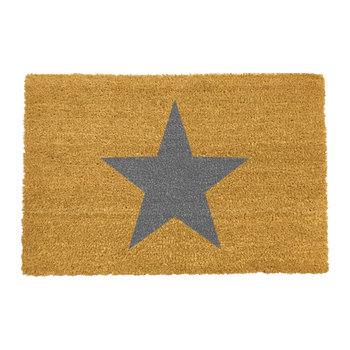 Star Door Mat - Gray