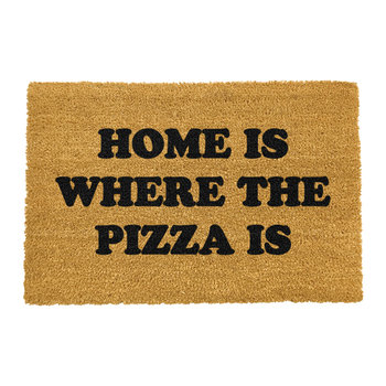 Home is Where the Pizza is Door Mat
