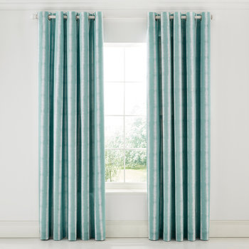 Akira Lined Curtains - Teal