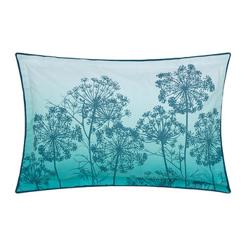 Dill Oxford Pillowcase - Aqua