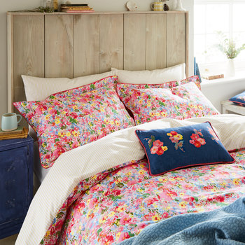 Hollyhock Meadow Pillowcase - Multi