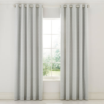 Chiswick Grove Lined Curtains - Silver