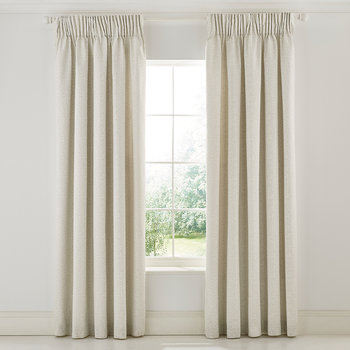 Wandle Gray Lined Curtains - Cream