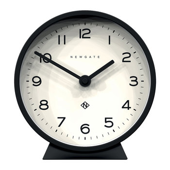 M Mantel Clock - Cave Black