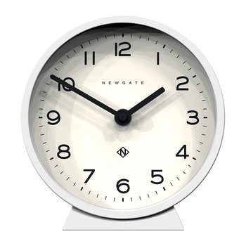 M Mantel Clock - Pebble White
