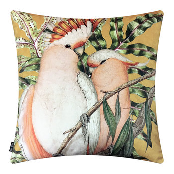 Cockatoo Velvet Cushion - Curry - 50x50cm