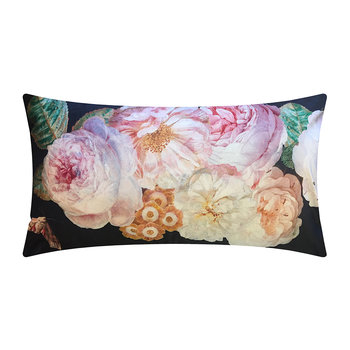 Black Rose Velvet Cushion - 40x80cm