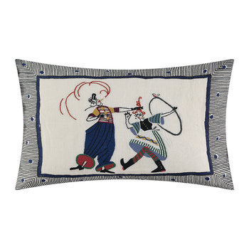 Circus Day Pillow - Indigo - 50x35cm