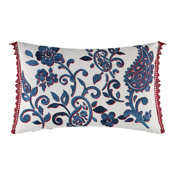 Floretta Paisley Cushion - 60x40cm - Rouge