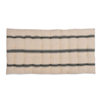 Stripe Hampstead Bench Seat Pad - Charcoal