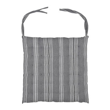 Stripe Seat Pad - Earl Grey