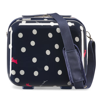 Vintage Dog Dot Vanity Case - Ink
