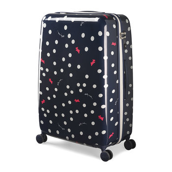 Vintage Dog Dot Suitcase - Ink