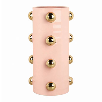 Dotted Vase - Pink/Gold