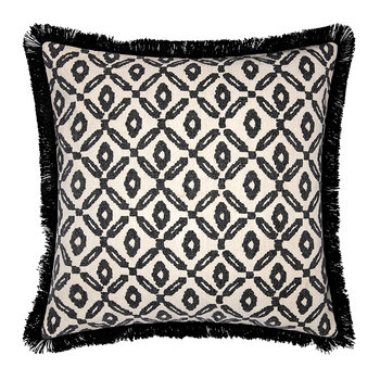Diamond Print Pillow Cover - Black/White - 50x50cm