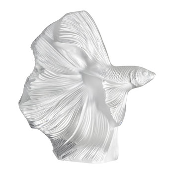 Fighting Fish Sculpture - Clear
