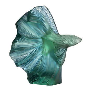 Fighting Fish Sculpture - Mint Green/Blue