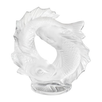Double Fish Sculpture - Small - Clear