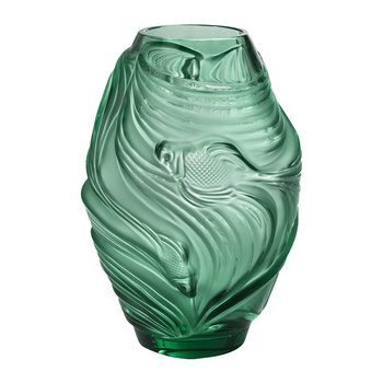 Poissons Combattants Vase - Mint Green