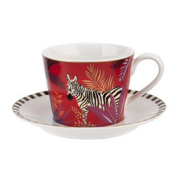 Tahiti Collection Teacup and Saucer - Zebra
