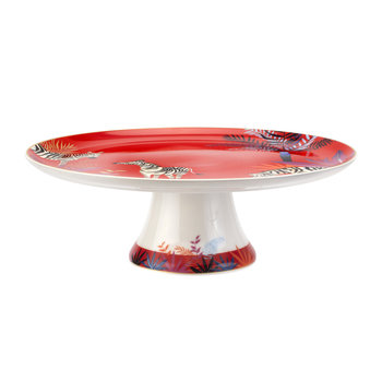Tahiti Collection Footed Cake Plate - Zebra