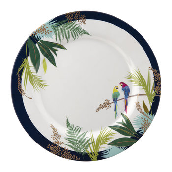 Parrot Collection Melamine Plate - Set of 4 - Dinner Plate - 28cm